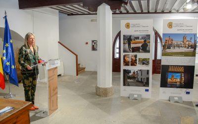 La alcaldesa inaugura una exposición sobre la remodelación de la Plaza de España, poniendo en valor la importancia de los fondos europeos